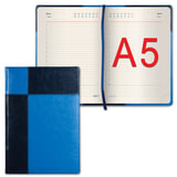 Ежедневник GALANT недатированный, А5, 148×218 мм, «Kassel», 160 л., комбинированная кожа, синий/<wbr/>голубой
