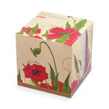 Блок для записей HATBER в картонном боксе, куб 9×9×9 см, белый, «Red on White»