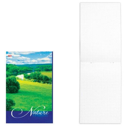 Блокнот А5, 80 л., скоба, мелованный картон обложка, HATBER VK, «Nature» («Пейзаж»), 135×205 мм
