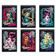 Блокнот А6, 40 л., гребень, блестки, тонированный блок, HATBER, «Monster High», 110×145мм