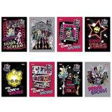 Блокнот А6, 48 л., скоба, мелованный картон обложка, HATBER, «Monster High», 124×144 мм, 48Б6B1