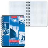Записная книжка, А6, 140 л., гребень, обложка мелованный картон, HATBER, «Офис», 105×145 мм