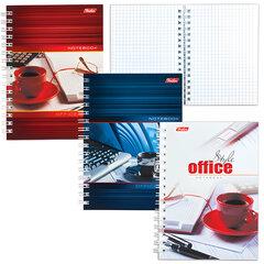Записная книжка, А6, 80 л., гребень, обложка мелованный картон, HATBER, «Офис», 105×145 мм, 80ЗК6B1гр
