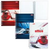 Записная книжка, А6, 80 л., гребень, обложка мелованный картон, HATBER, «Офис», 105×145 мм