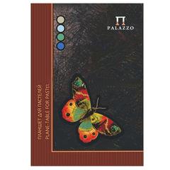 Папка для пастели/<wbr/>планшет, А4, 210×297 мм, 20 л. тонированная бумага 200 г/<wbr/>м<sup>2</sup>, склейка, 4 цв., твердая подложка, «Бабочка»