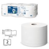 Бумага туалетная 207 м, TORK (T8) SmartOne, комплект 6 шт., Advanced, 2-х слойная, белая, диспенсер 601666, 472242