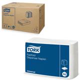 Салфетки TORK (Система N2) Fastfold, комплект 36 шт., 25×30, 250 шт., белые, диспенсер 601679, 10903