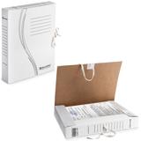 Накопитель документов, папка с завязками BRAUBERG (БРАУБЕРГ), 45 мм, 2 х/<wbr/>б завязки, белый, до 400 л.