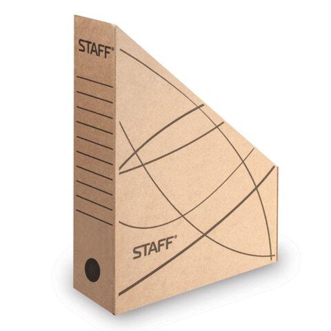 Лоток вертикальный для бумаг, микрогофрокартон, 75 мм, до 700 листов, бурый, STAFF