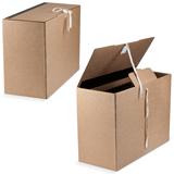 Короб архивный, 28×17×38 см, вертикальный, на завязках, бурый, до 1600 л.