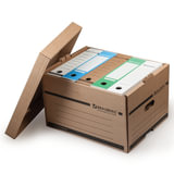 Короб архивный BRAUBERG, 26,5×40,5×33 см, надстраиваемый, с крышкой, картон, бурый