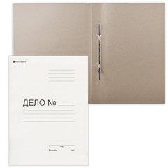 Скоросшиватель картонный BRAUBERG, гарантированная плотность 400 г/<wbr/>м<sup>2</sup>, до 200 листов