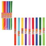 Цветная бумага крепированная BRAUBERG (БРАУБЕРГ), комплект 200 рулонов, 10 цветов, ассорти, плотная, 32 г/<wbr/>м, 50×250 см