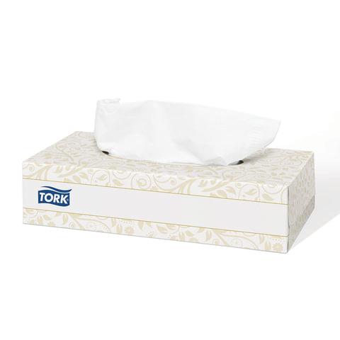 Салфетки косметические TORK (Система F1) Premium, 2-слойные, 100 шт., в картонном боксе, белые, 120380