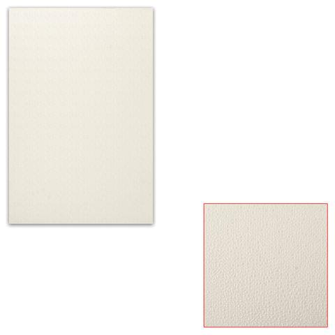 Белый картон грунтованный для масляной живописи, 20х30 см, толщина 0,9 мм, масляный грунт, односторонний