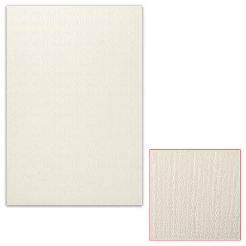 Белый картон грунтованный для масляной живописи, 35х50 см, толщина 0,9 мм, масляный грунт, односторонний