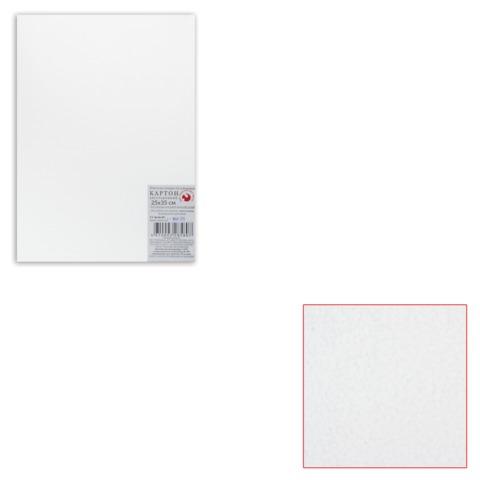 Белый картон грунтованный для живописи, 25×35 см, толщина 2 мм, акриловый грунт, двусторонний