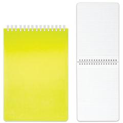 Блокнот А5, 80 л., гребень, пластиковая обложка, HATBER, «DIAMOND-желтая», 145×205 мм, 80Б5B1гр 02037