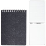 Блокнот А6, 80 л., гребень, пластиковая обложка, HATBER, «WOOD-черный», 110×145 мм