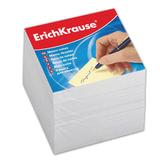 Блок для записей ERICH KRAUSE непроклеенный, 9×9×9 см, белый