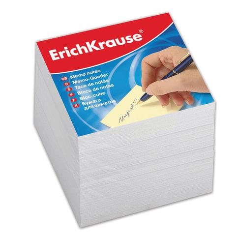 Блок для записей ERICH KRAUSE непроклеенный, куб 9х9х9 см, белый, белизна 95-98%