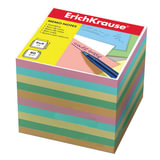 Блок для записей ERICH KRAUSE непроклеенный, 9×9×9 см, цветной