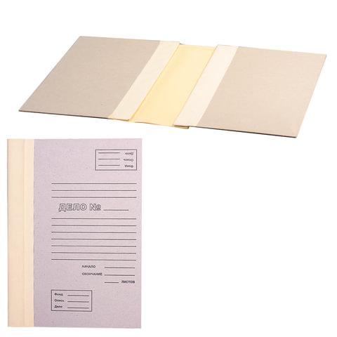 Папка архивная для переплета, 40 мм, без клапанов, переплетный картон, корешок — коленкор