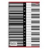 Тетрадь для нот А4, 24 л., HATBER, спираль, вертикальная, «Клавиши»