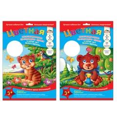 Цветная бумага, А4, крепированная, металлизированная, 5 листов, 5 цветов + 1 лист белого картона, АППЛИКА, 206×285 мм