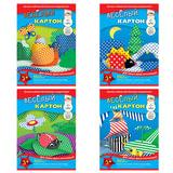 Цветной картон, А4, «веселый», двусторонний, 6 листов, 6 цветов, АППЛИКА, 205×290 мм