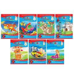 Цветной картон, А4, мелованный, 7 цветов, 215 г/<wbr/>м<sup>2</sup>, АППЛИКА, 205×290 мм