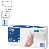 Полотенце бумажное 120 шт., TORK (Система H3) Universal, 2-х слойное, натуральное белое, 24×27,5 см, Singlefold, 471111