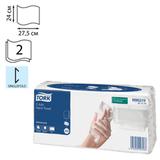 Полотенца бумажные 120 шт., TORK (Система H3) Advanced, 2-х слойные, белые, 24×27,5 см, Singlefold, 471114