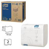 Бумага туалетная TORK (Система Т3), комплект 36 шт., Advanced, листовая, 242 л., 11×19 см, 2-слойная, 114271