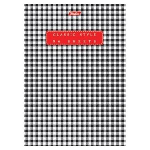 Блокнот А5, 80 л., скоба, мелованный картон обложка, HATBER, «Classic Style», 135×205 мм