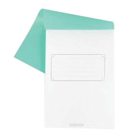 Блокнот А5, 80 л., скоба, полимерная обложка, HATBER, «Зелёный», 135×205 мм