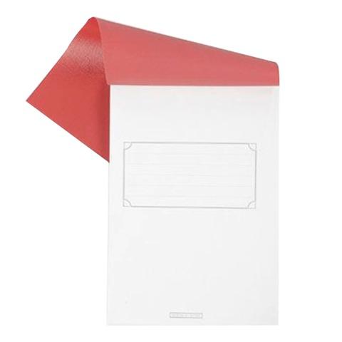 Блокнот А5, 80 л., скоба, полимерная обложка, HATBER, «Красный», 135×205 мм