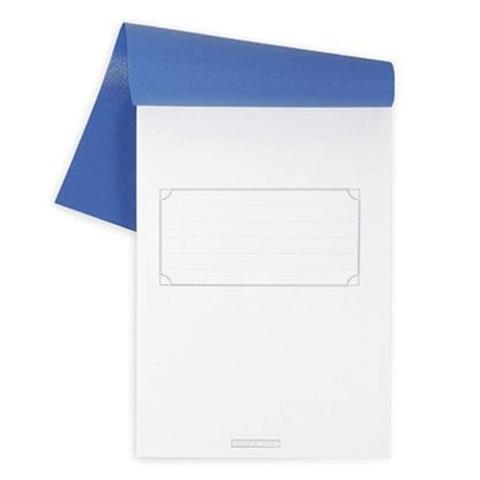 Блокнот А5, 80 л., скоба, полимерная обложка, HATBER, «Синий», 135×205 мм