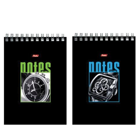 Блокнот А5, 60 л., спираль, жесткая подложка, HATBER, «Часы», 145×205 мм