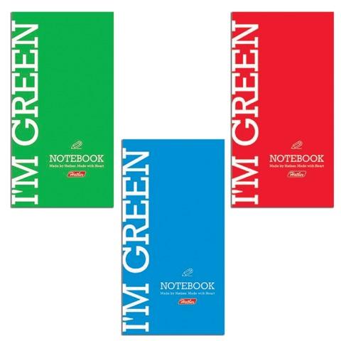 """Блокнот А6, 64 л., склейка, мелованный картон обложка, HATBER, """"I am Colour"""" (""""Однотонный""""), 87х147 мм, 64Б6B1к"""
