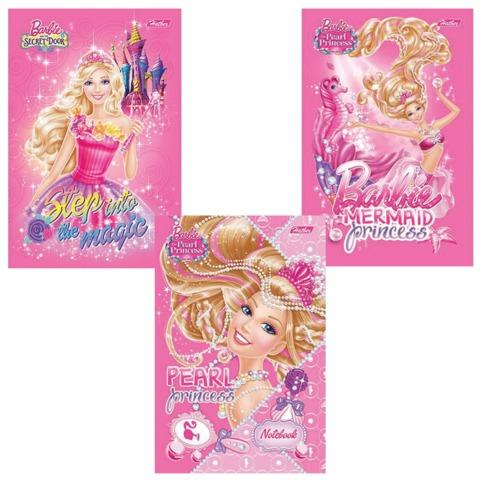 Блокнот А6, 40 л., склейка, обложка ламинированная, HATBER, «БАРБИ-(Barbie)», 97×155 мм, 40Б6B1к