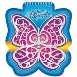 Блокнот А6, 60 л., гребень, фигурная высечка, HATBER, «Butterfly», 60Б6Aгр 12691