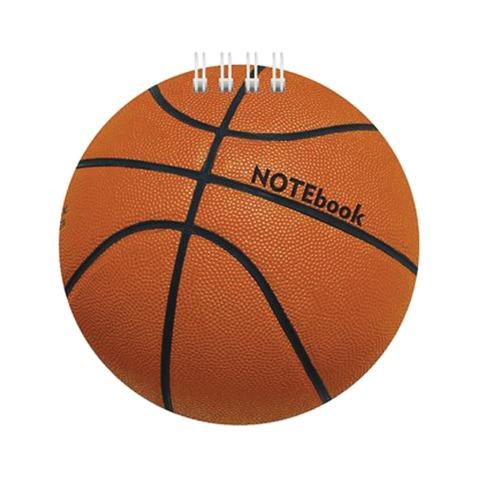 Блокнот А6, 60 л., гребень, фигурная высечка, HATBER, «Баскетбол»