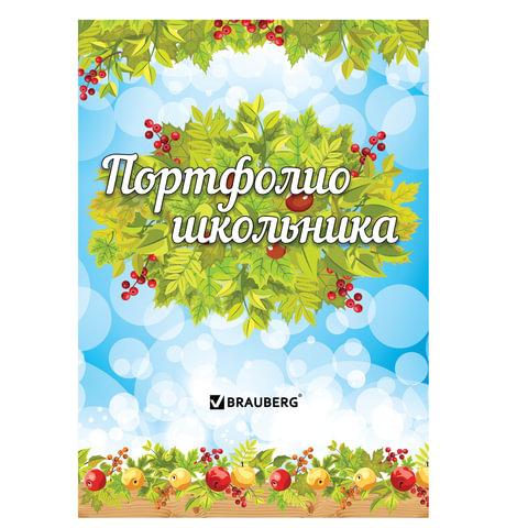 Портфолио ШКОЛЬНИКА BRAUBERG (БРАУБЕРГ), 16 л., внутренний блок (титульный лист, содержание, 14 разделов), «Окружающий мир»