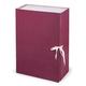 Короб архивный STAFF, 12 см, 100% покрытие бумвинил, 2 х/<wbr/>б завязки, до 1000 л., бордовый