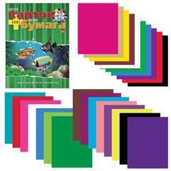 Цветная бумага и цветной картон, А4, 16+10, склейка, HATBER VK «Аквариум», 195×275 мм, 26НКБ4к 09572