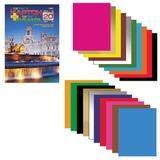 Цветная бумага и цветной картон, А4, в папке, 10+10, HATBER, «Дворец», 195×280 мм