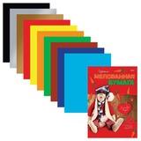 Цветная бумага, А4, мелованная, 10 листов, 10 цветов, HATBER, «Lovely Toys», 195×280 мм, 10Бц4м 08751