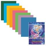 Цветная бумага, А4, тонированная, 8 листов, 8 цветов, HATBER, «Барби» («Barbie»), 210×297 мм
