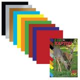 Цветной картон, А5, мелованный, 10 листов, 10 цветов, HATBER VK, «Олени», 140×195 мм, 10Кц5к 10332